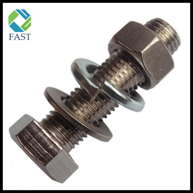 Stainless Steel Hex Bolt with Nut and Washer
