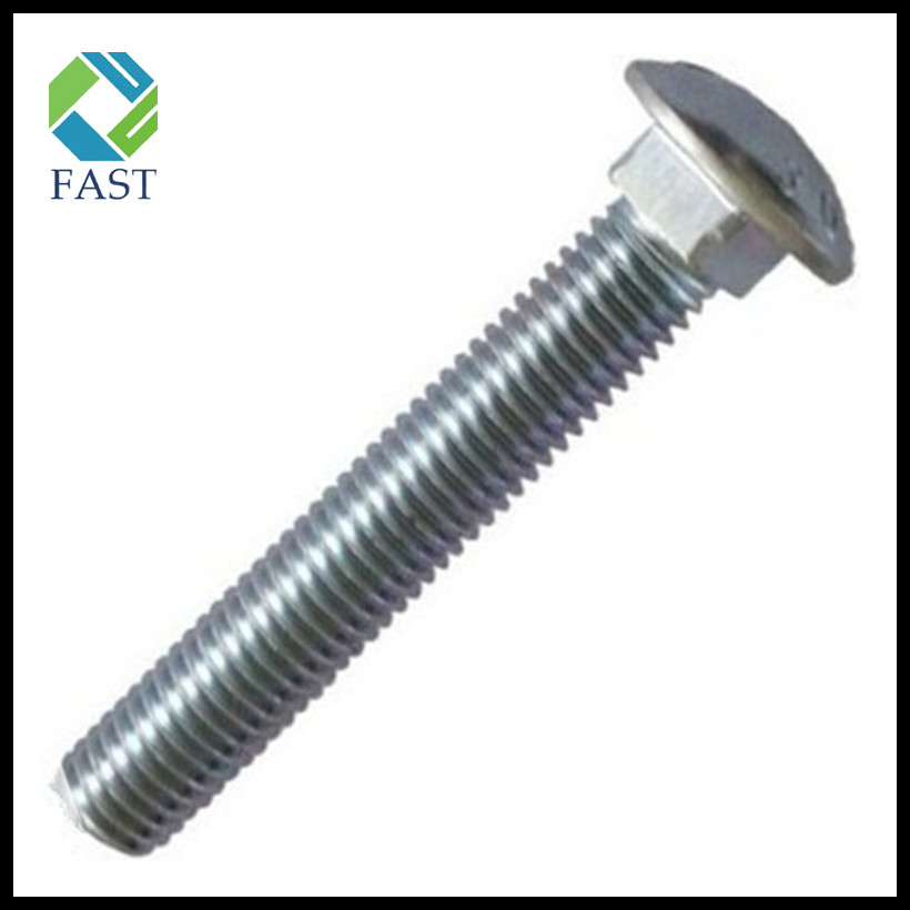 Zinc Plated Carbon Steel Carriage Bolt