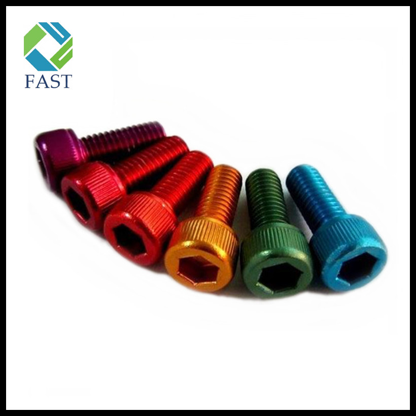Color Anodized Hex Socket Aluminum Bolt