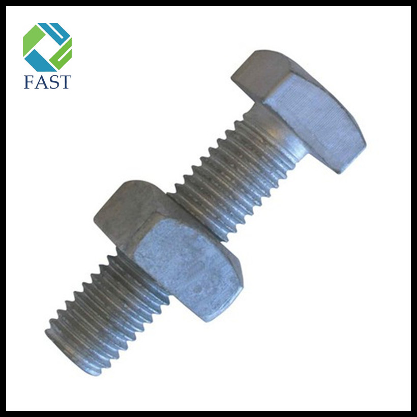 Square Head Bolt with Nut