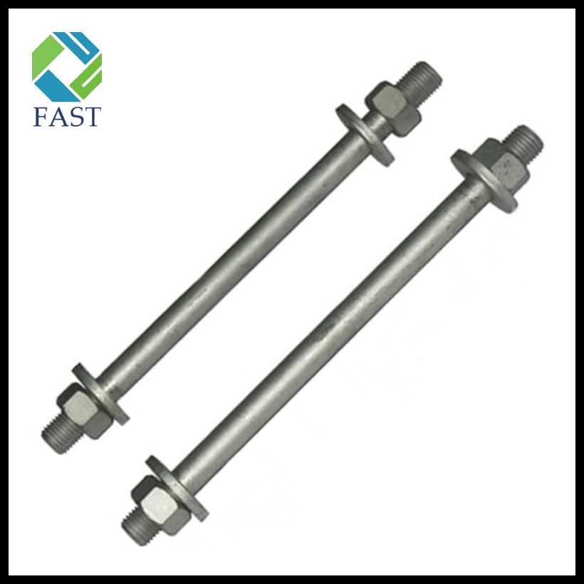 Hot Dip Galvanized Stud Bolt with Nut and Washer