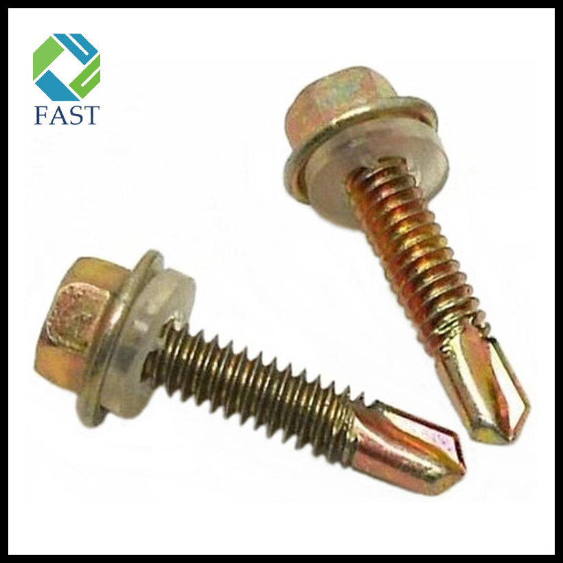 Self Drilling Screw with Plastic Washer